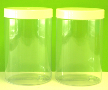 Plastic Jar 500g Clear with White Lid-sold individually
