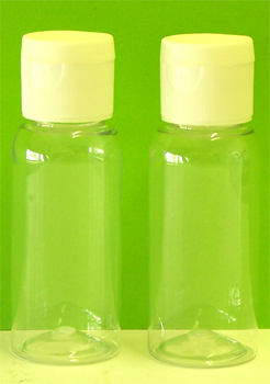 Plastic Bottle 50ml Clear with White Dispensing Cap