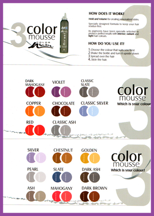Nirvel ArtX Coloured Hair Mousse-Pearl