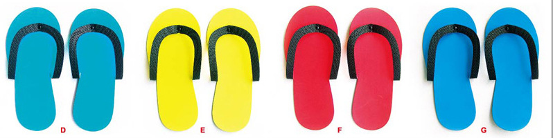 Heavy Duty Pedicure Slipper NSP-12-Red-Price Per Pair