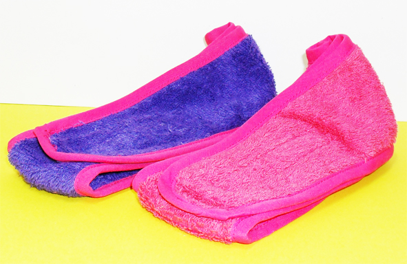 Royal Shivas Headband made from Terry Towel material with Velcro Closure-Violet colour with Pink Border