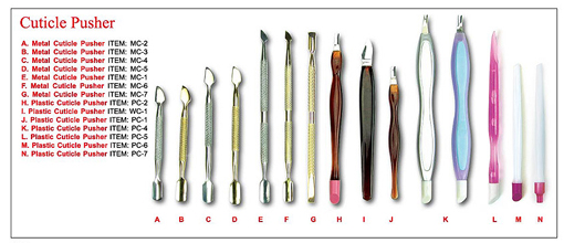 MC-3 Nirvana Metal Cuticle Pusher Small-Gold-Spoon/Pterygium