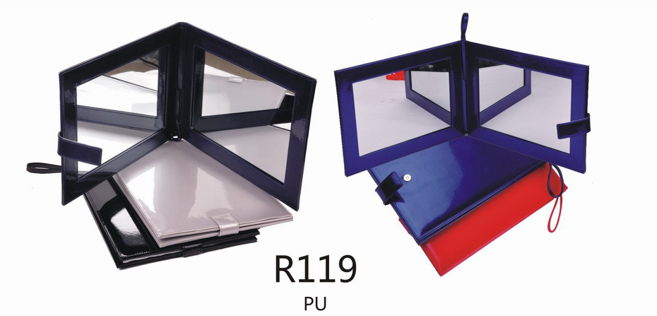 R119-Elegant Foldable Polyurethane Covered Rectangular Mirrors