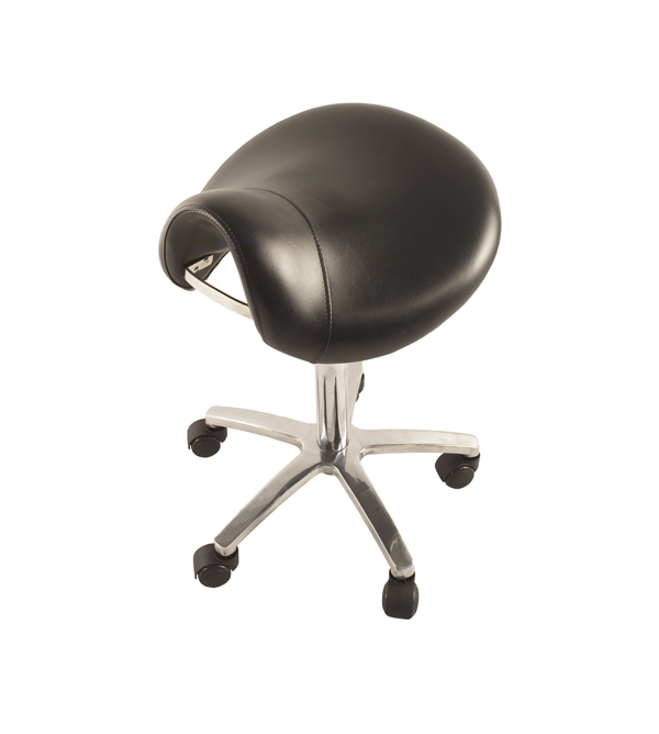 The Clarisse-The Superior Quality Salon Gas Lift Stool-Black Upholstery