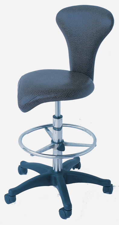 98022B-The Jameson-Superior Quality Salon Stool with Backrest and Ring Foot Rest-Black Upholstery