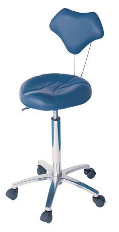 98040-The Layla-Superior Quality Gas Lift Salon Stool with Back Rest-In Black Upholstery Only
