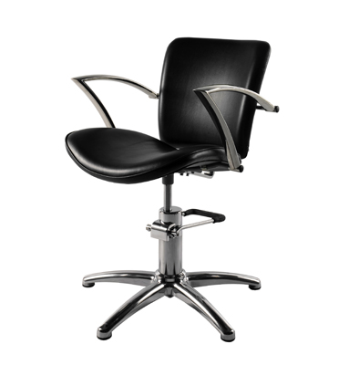 28003B-The Venus- Superior Quality Salon Styling Chair-Hydraulic Pump Lift-Black Upholstery