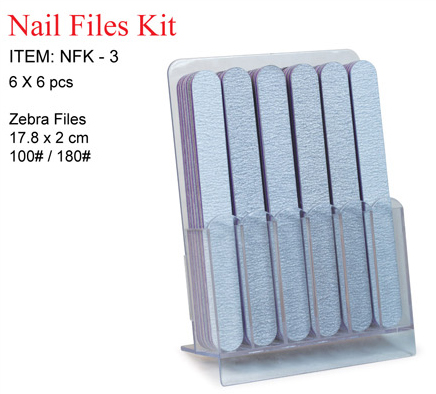 Nirvana Collection-Sibu Series-Nail Files-NFK-3-Straight Zebra File 17.8cmx2cm Grit 100/180
