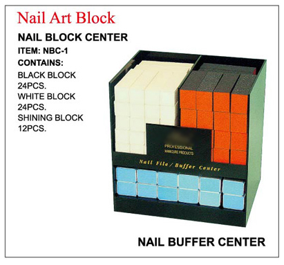 Nirvana Collection Sibu Series Nail Block Buffer Centre-Includes Assorted Nail Block Buffers-60pcs in elegant display