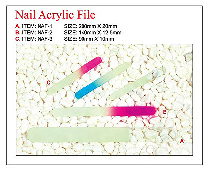 NAF-1-Nirvana Collection-Sibu Series-Glass Nail File-Large 200mmx20mm