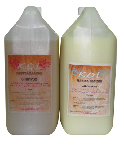 K.O.L Kiss Of Life Reviva Blonde Conditioner-Ideal for rejuvenating and maintaining blonde hair tones-5L