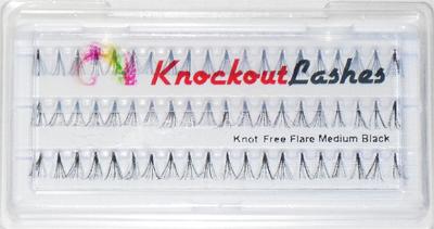 Knockout Lashes-Knot Free Flare Medium Black