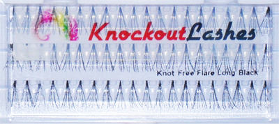 Knockout Lashes Knot Free Flare Long Black