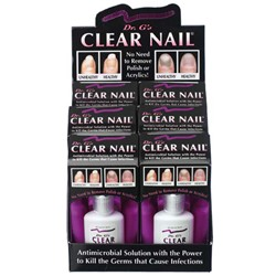 DR. G'S Clear Nail 0.6 oz-Powerful antimicrobial to kill germs on nails