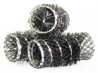Black Swiss Hair Rollers-70mm Diameter-12 per pack