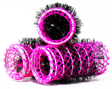 Hot Pink Swiss Hair Rollers-Length-70mm Diameter-30mm-12 per pack