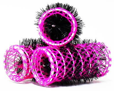 Hot Pink Swiss Hair Rollers-Length-70mm Diameter-30mm-12 per pack