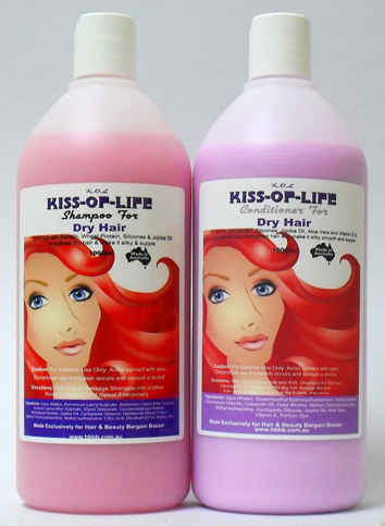Kiss-Of-Life Shampoo for Dry Hair-Enriched with keratin, wheat protein, silicones and jojoba oil to hydrate dry hair and make it silky and supple-1000ml