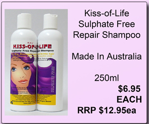 Kiss-Of-Life Sulfate Free Repair Shampoo-Ideal for Dry & Damaged Hair 250ml
