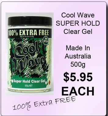 Cool Wave Hair Gel-Super Hold Clear Gel with SPF 30+ 100% Extra for FREE! 500g for the price of 250g